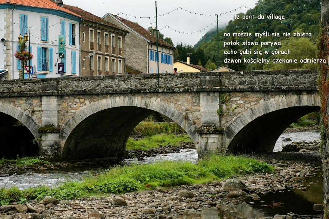 le pont du village - wiejski most